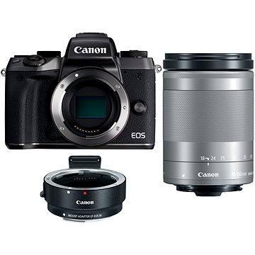 Canon EOS M5 + 18-150mm IS STM stříbrný + adaptér EF-EOS M (1279C047AA) + ZDARMA Poukaz Elektronický dárkový poukaz Alza.cz v hodnotě 1000 Kč, platnost do 28/2/2017