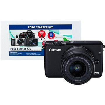 Canon EOS M10 Black + EF-M 15-45mm F3.5 - 6.3 IS STM + Alza Foto Starter Kit