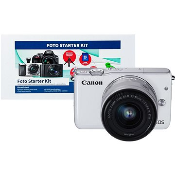 Canon EOS M10 White + EF-M 15-45mm F3.5 - 6.3 IS STM + Alza Foto Starter Kit