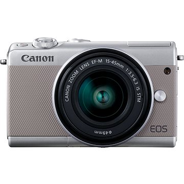 Canon EOS M100 šedý + M15-45mm stříbrný + IRISTA 50GB (2211C067)