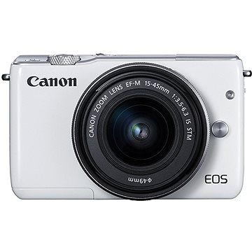 Canon EOS M100 bílý + M15-45mm stříbrný + M 22mm (2210C032)