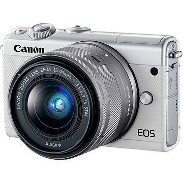 Canon EOS M100 bílý + M15-45mm stříbrný (2210C049AA)