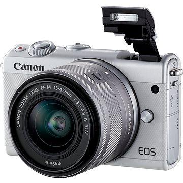 Canon EOS M100 bílý + M15-45mm stříbrný + Irista (2210C093)