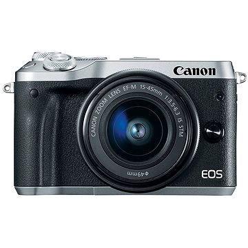 Canon EOS M6 stříbrný+ EF-M 15-45mm (1725C012AA)