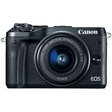 Canon EOS M6 černý + EF-M 15-45mm + 55-200mm (1724C032AA)