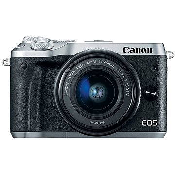 Canon EOS M6 stříbrný + EF-M 15-45mm + 55-200mm (1725C032AA)