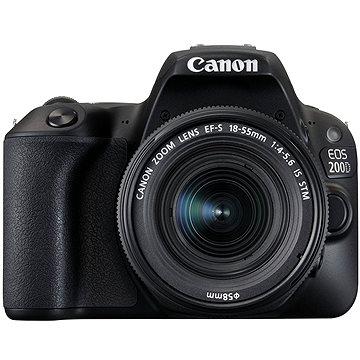 Canon EOS 200D černý + 18-55mm DC III + 75-300mm DC III + Canon Starter Kit + ZDARMA Film k online zhlédnutí Škola focení s Ondřejem Prosickým
