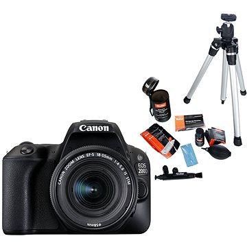 Canon EOS 200D černý + 18-55mm DC III + 75-300mm DC III + Rollei Starter Kit