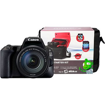 Canon EOS 200D + 18-135mm IS STM + Canon Starter Kit