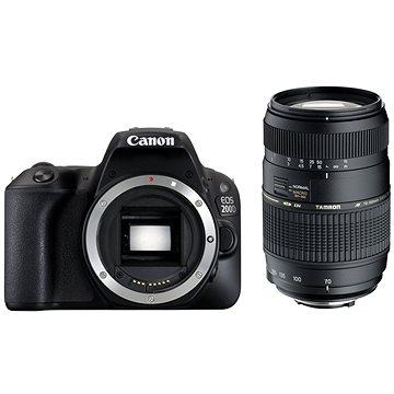 Canon EOS 200D černý + TAMRON AF 70-300mm f/4-5,6 Di pro Canon LD Macro 1:2