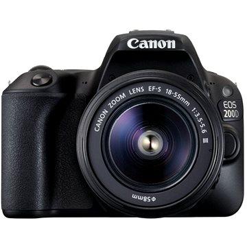 Canon EOS 200D černý + 18-55mm DC III (2250C011AA) + ZDARMA Kalkulačka Canon LS-100K zelená