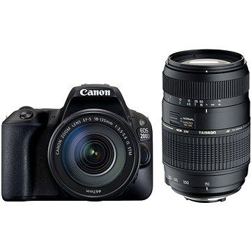 Canon EOS 200D černý + 18-55mm DC III + TAMRON 70-300mm