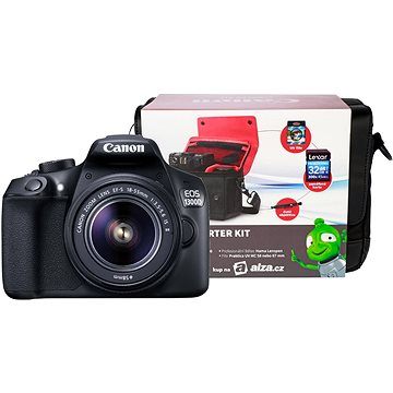 Canon EOS 1300D + EF-S 18-55mm IS II + Canon Starter Kit + ZDARMA Stativ Hama Star 62
