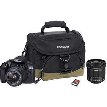 Canon EOS 1300D + EF-S 18-55mm DC III Value Up Kit + objektiv 10-18mm IS STM (1160C153)