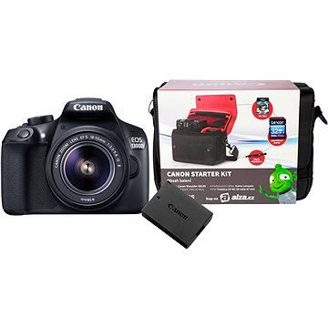 Canon EOS 1300D + EF-S 18-55mm IS II + baterie LP-E10 + Canon Starter Kit