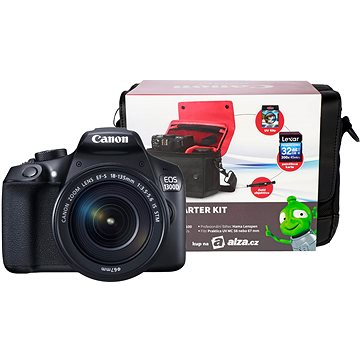 Canon EOS 1300D + EF-S 18-135mm IS + Canon Starter Kit + ZDARMA Stativ Hama Star 62