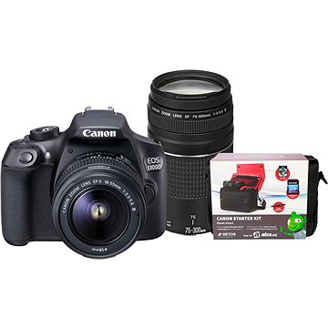Canon EOS 1300D + 18-55mm DC III + 75-300m DC III + Canon Starter Kit
