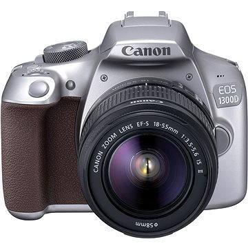 Canon EOS 1300D stříbrný + EF-S 18-55mm DC III + 50 mm f/1,8 STM (1744C013AA)