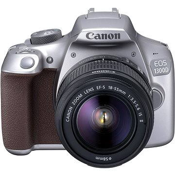 Canon EOS 1300D stříbrný + EF-S 18-55mm DC III (1744C013AA) + ZDARMA Stativ Hama Star 62
