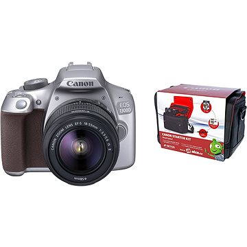 Canon EOS 1300D stříbrný + EF-S 18-55mm DC III + Canon Starter Kit