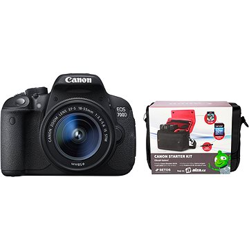 Canon EOS 700D + EF-S 18-55mm IS STM + Canon Starter Kit + ZDARMA Stativ Hama Star 62
