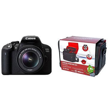 Canon EOS 700D + EF-S 18-55mm DC III + Canon Starter Kit