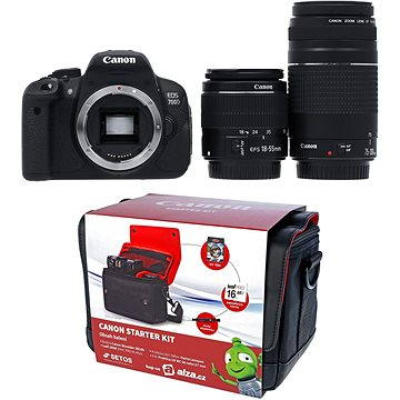 Canon EOS 700D + EF-S 18-55mm DC III + 75-300mm DC III + Canon Starter Kit