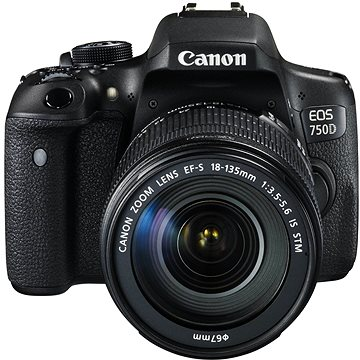 Canon EOS 750D + EF-S 18-55mm IS STM + 55-250mm IS STM (0592C090AA)