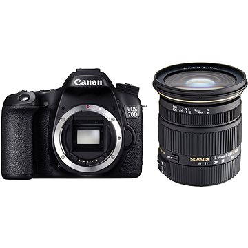 Canon EOS 70D body + Sigma 17-50mm