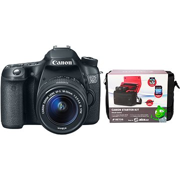 Canon EOS 70D body + 18-55mm IS STM + Canon Starter Kit