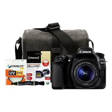 Canon EOS 80D + EF-S 18-55mm IS STM + Canon Starter Kit