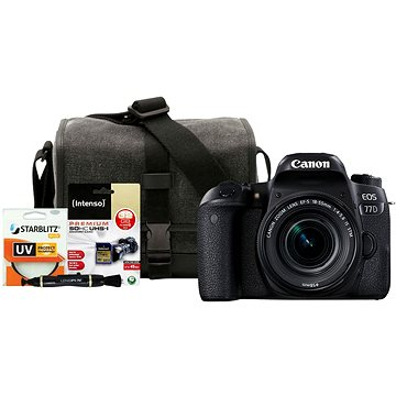 Canon EOS 77D černý + 18-55mm IS STM + Canon Starter Kit