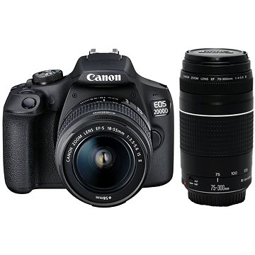 Canon EOS 2000D + 18-55mm IS II + 75-300mm DC III (2728C017)