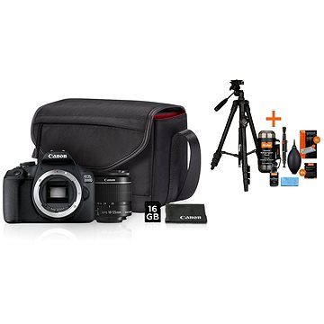 Canon EOS 2000D + 18-55mm IS II Value Up Kit + Rollei Foto Starter Kit 2