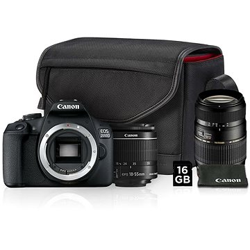 Canon EOS 2000D + 18-55mm IS II Value Up Kit + TAMRON AF 70-300mm f/4-5,6 Di pro Canon LD Macro 1:2