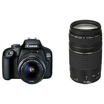 Canon EOS 4000D + 18-55mm DC III + 75-300mm DC III (3011C020AA)