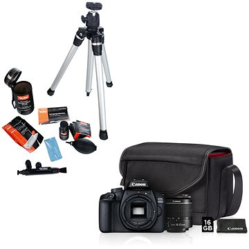Canon EOS 4000D + 18-55mm Value Up Kit + Rollei Starter Kit