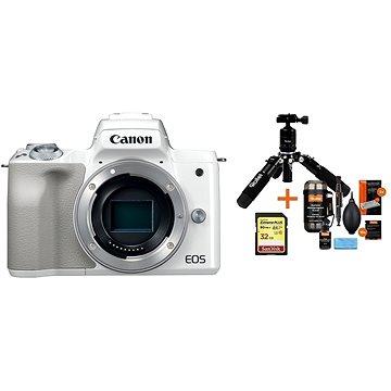 Canon EOS M50 tělo bílý + Rollei Premium Starter Kit