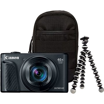 Canon PowerShot SX740 HS černý Travel kit (2955C016)