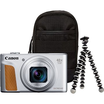 Canon PowerShot SX740 HS stříbrný Travel kit (2956C016)