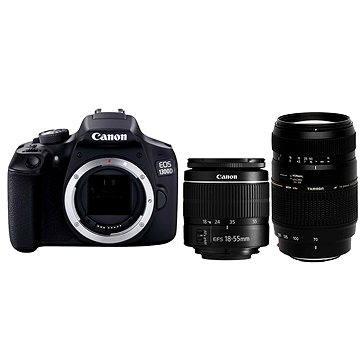 Canon EOS 1300D + EF-S 18-55mm DC + Tamron 70-300mm Macro + ZDARMA Stativ Hama Star 62
