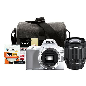 Canon EOS 250D biely + 18–55 mm IS STM + Canon Starter Kit 58 mm – 32GB