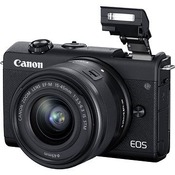 Canon EOS M200 + EF-M 15-45mm f/3.5-6.3 IS STM černá (3699C010)