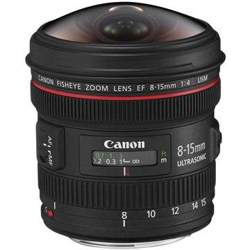 Canon EF 8-15mm f/4.0 L USM Fish-Eye (4427B005AA)