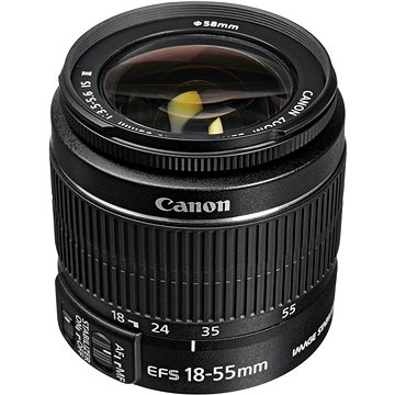Canon EF-S 18-55mm f/3.5 - 5.6 IS II Zoom černý (5121B005AA)