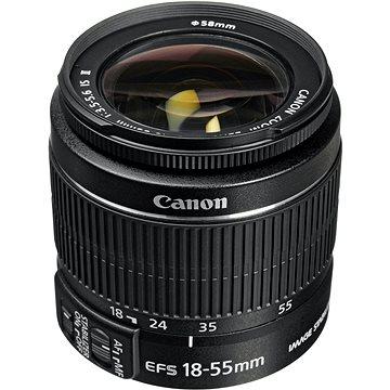 Canon EF-S 18-55mm F3.5 - 5.6 IS II Zoom černý (5121B005AA) + ZDARMA Kalkulačka Canon LS-100K zelená Čisticí utěrka Hama utěrka MICRO OPTIC-CLEANER