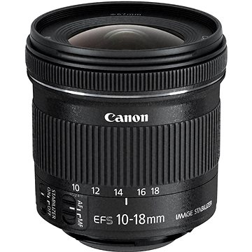 Canon EF-S 10-18mm F4.5 - 5.6 IS STM (9519B005) + ZDARMA Čistící utěrka Hama utěrka MICRO OPTIC-CLEANER Štětec na optiku Hama Lenspen