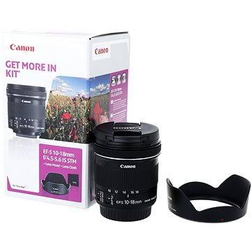 Canon EF-S 10-18mm f/4.5 - 5.6 IS STM + EW-73C + UV filtr HOYA 67mm Pro 1D DHMC + ZDARMA Kalkulačka Canon LS-100K zelená Čisticí utěrka Hama utěrka MICRO OPTIC-CLEANER Štětec na optiku Hama Lenspen