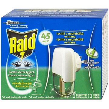 RAID elektrický odpařovač s eukalyptovým olejem 1+27 ml (5000204880366)
