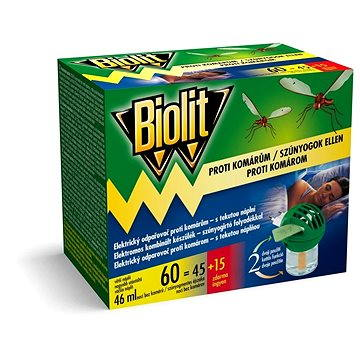 Odpuzovač hmyzu BIOLIT elektrický odpařovač s tekutou náplní 1+46 ml (8590005790928)